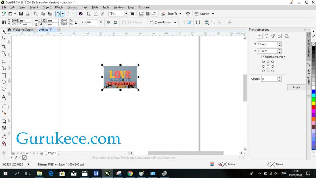 Cara Crop Di Corel Cara Memotong Gambar Di Corel Lengkap