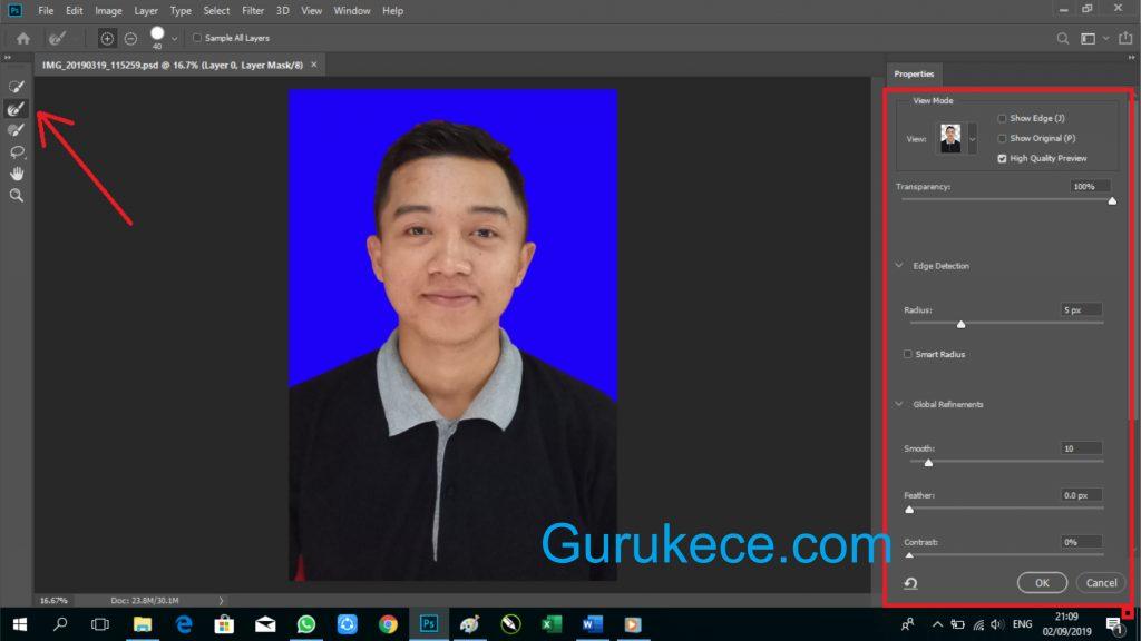 cara ganti background di photoshop