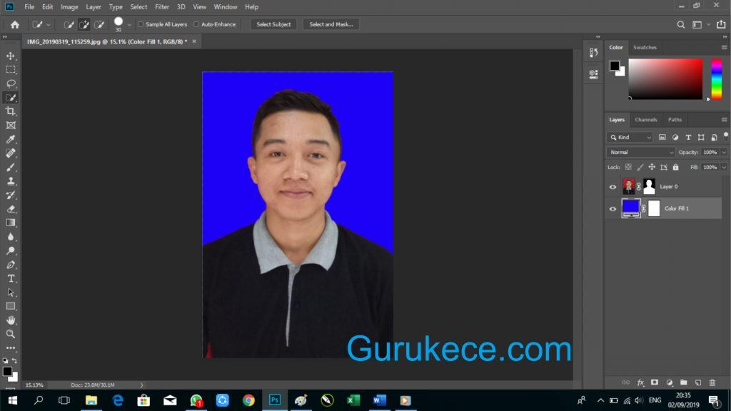ganti background foto