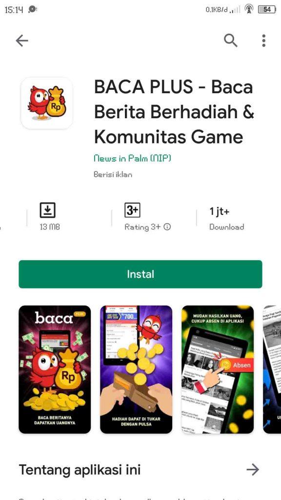 BACA PLUS – Baca Berita Berhadiah & Komunitas Game