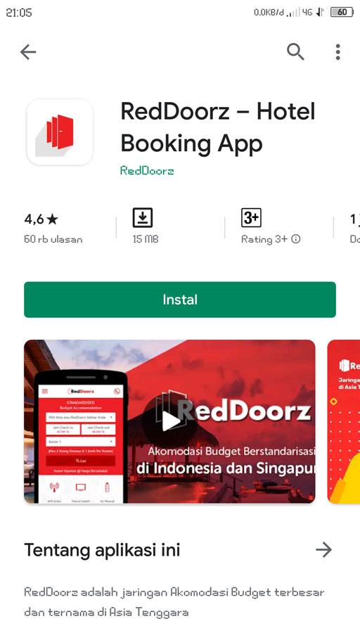 reddoorz aplikasi booking hotel