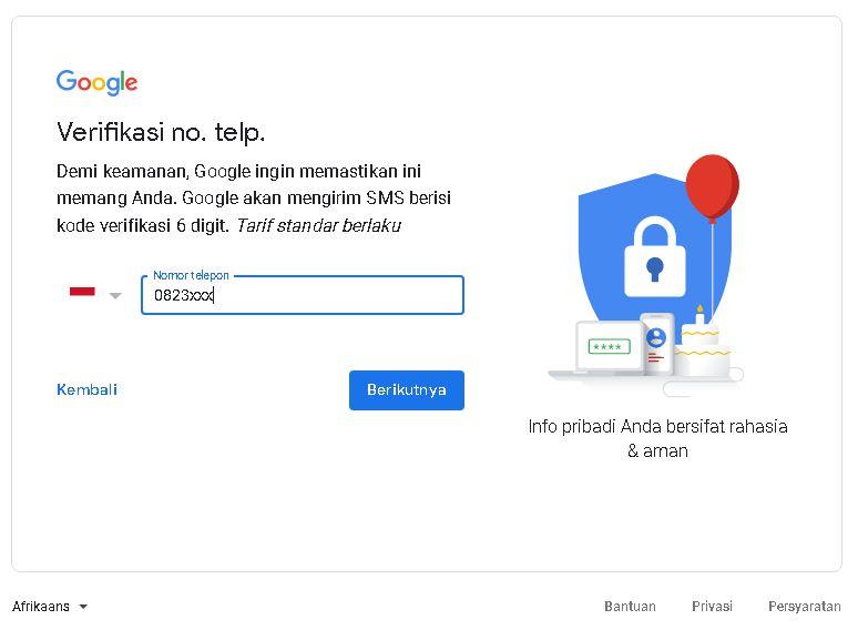 cara mendaftar gmail baru