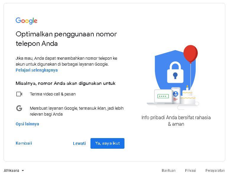 cara mendaftar gmail baru 2020
