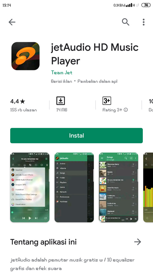 jetaudio aplikasi pemutar musik