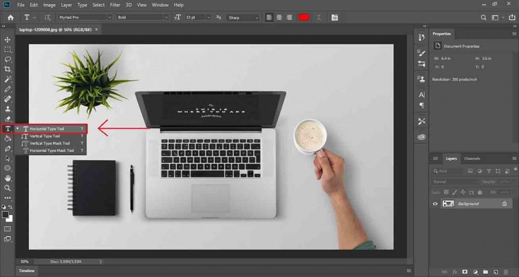 cara membuat watermark di photoshop