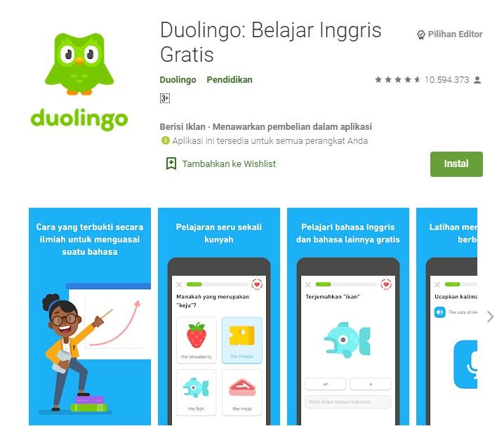 aplikasi belajar bahasa inggris android terbaik