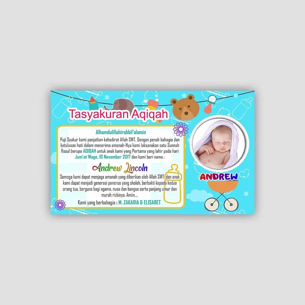 contoh desain kartu aqiqah